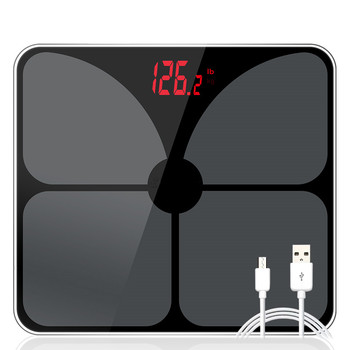 USB Charging Scales LED Digital Display Weight Weighing Floor Electronic Smart Balance Body Household Bathrooms 180KG