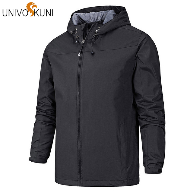 Best Offers UNIVOS KUNI Winter Jacket Men Parkas Thicken Fleece Hooded Coats Men's Windbreaker Casual Male Waterproof Thermal Clothes J341