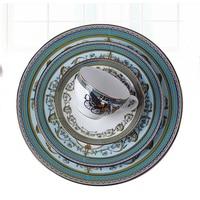 Wourmth Western Style Fashion Bone China Tableware Steak Cake Dinnerware For Coffee Cup Saucer Cutlery Set