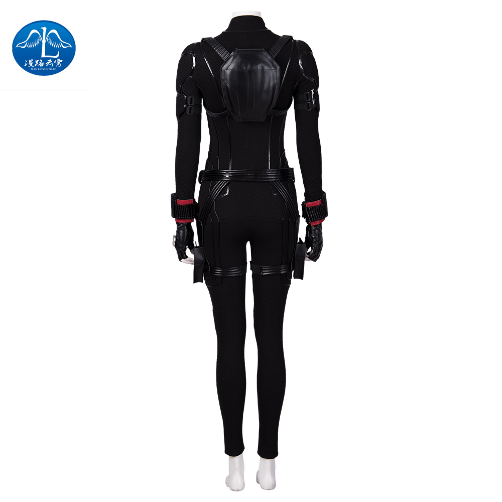 Manluyunxiao Avengers End Game Black Widow Cosplay Costume Captain America Halloween Avengers 4 Natasha Romanoff Jumpsuit in Movie TV costumes from Novelty Special Use