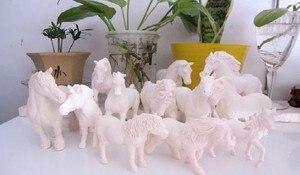 Image 1 - Pvcフィギュア本物のシミュレーションモデルのおもちゃ白い馬diy 1000グラム