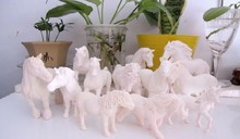 pvc figure Genuine simulation model toy white horses for DIY 1000G