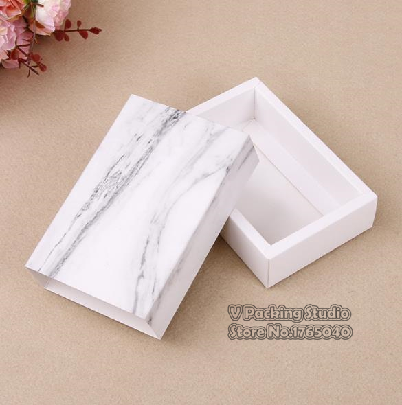 Marble Design paper drawer boxes Drawer Boxes Wedding Party Candy Gift Box for Handmade Soap Craft