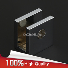 Wholesale 100PCS Brass Shower Glass Clamps Clip Bathroom Fixed Holder Brackets Shelf Support No Drilling Chrome Finished