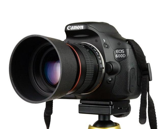 Kelda 85mm F1.8-F22 Manual Focus Portrait Lens Camera Lens for Canon EOS 550D 600D 700D 5D 6D 7D 60D DSLR Cameras