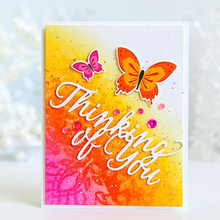 Thinking of You Dies English Phrase Metal Cutting for DIY Scrapbooking Decorative Crafts Supplies Embossing Paper Cards