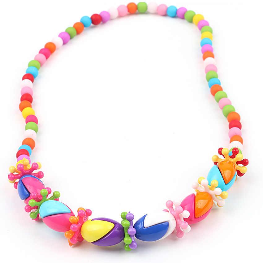 Novas Belas Contas de Chicletes Colar Bonito Pingente Princesa Bubblegum Colar Pulseira para Crianças Meninas Acessórios Jóias XL-18