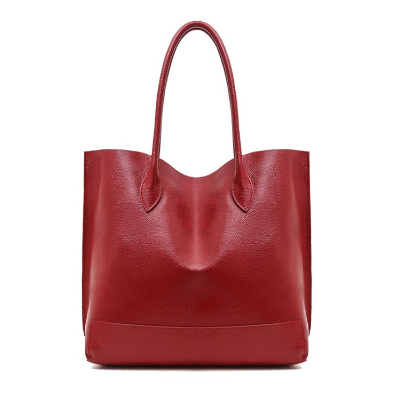 Genuine Leather Women Bucket Big Bag\Handbag 2017 New Cowhide Leather Casual ladies' Tote\Shoulder Bag Simple Shopping Bag~16B35 agent provocateur трусики стринги phyllis