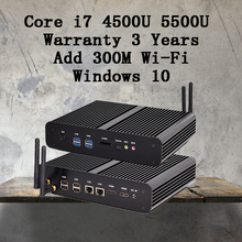 Мини-ПК HD 5500 Windows 2 HDMI Carte Graphique 4 К HTPC Mini-Itx Микро-Intel Core i7 5500U мини-компьютер 4 Г RAM лучшая комбинация