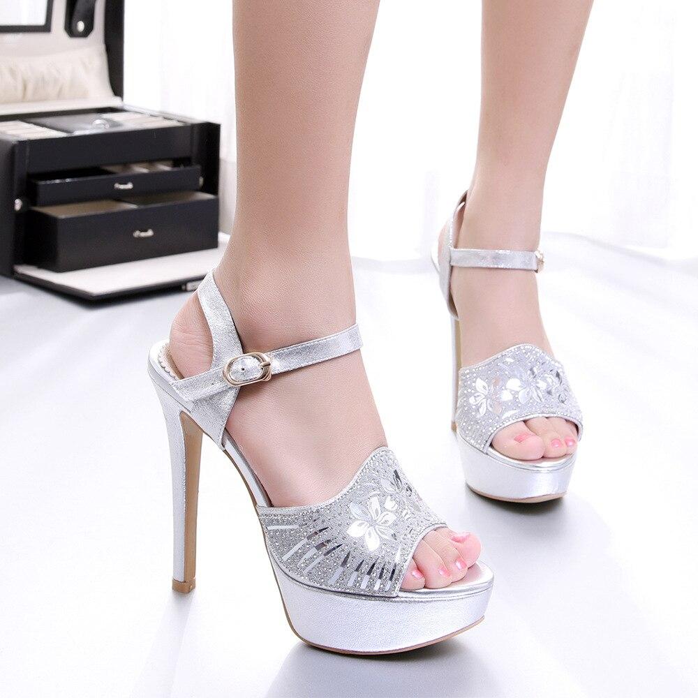 Diamant-Spitze Sexy Sandalen Kaufen Online-Shop Billig