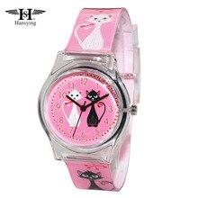 Новое поступление hansying Марка Mini кошка Дизайн Для женщин кварцевые Водонепроницаемый часы дамы Обувь для девочек известный бренд наручные часы Reloj