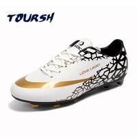 TOURSH Size 33 44 Men Boy Kids Soccer Cleats Long Spiker Football Shoes Firm Ground Hard