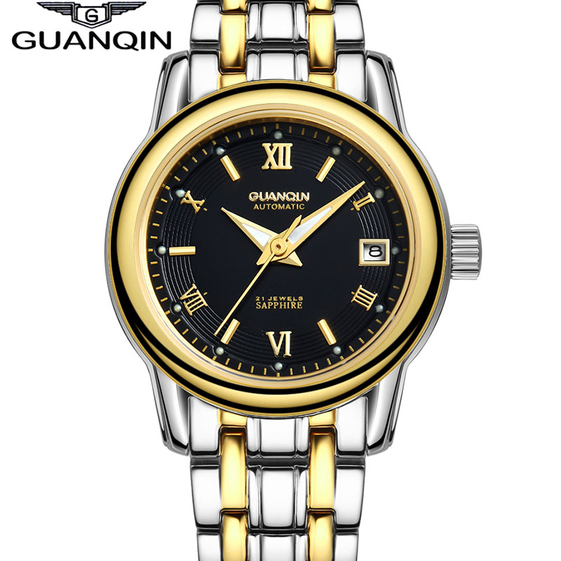 Mechanical Watch Women GUANQIN Automatic Watch Luminous Sapphire Waterproof Automatic Watch Women Clock Women Wristwatches цена 2017