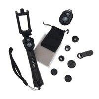 Многофункциональный 3 в 1 мобильный телефон Объективы для фотоаппаратов комплект Широкий формат + макрообъектив Bluetooth Дистанционное управл...