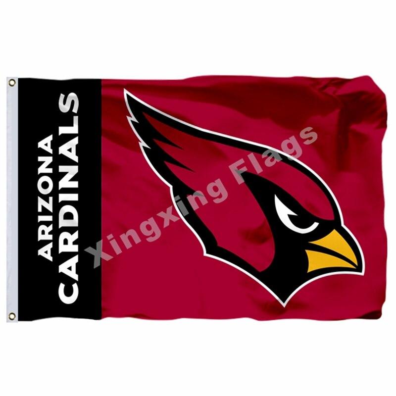 Arizona Cardinals Wordmark Flag 3ft X 5ft Polyester NFL1 Arizona Cardinals Banner Flying Size No.4 144* 96cm Custom Flag