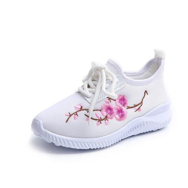 dcaf8d0f8e4 Kind Schoenen Chinoiserie Borduur Bloemen In en Najaar Meisje Platte  Prinses Casual Pumps Schoenen