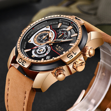 LIGE Mens Watches Top Brand Luxury Military Sport Watch Men Waterproof Leather Wristwatch Analog Quartz Watch Relogio Masculino relogio masculino mens watches lige new top brand luxury automatic date quartz watch men military leather waterproof sport watch