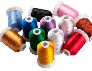 Simthread 12 podstawowych kolorów/zestaw nić poliestrowa do haftowania do brata/Babylock/Janome/Singer/Pfaff hafciarka