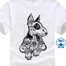 9660472caa160 Pit Bull Terrier With Tattoos Hipster Large Print Men'S T Shirt Cool Casual  Pride T Shirt