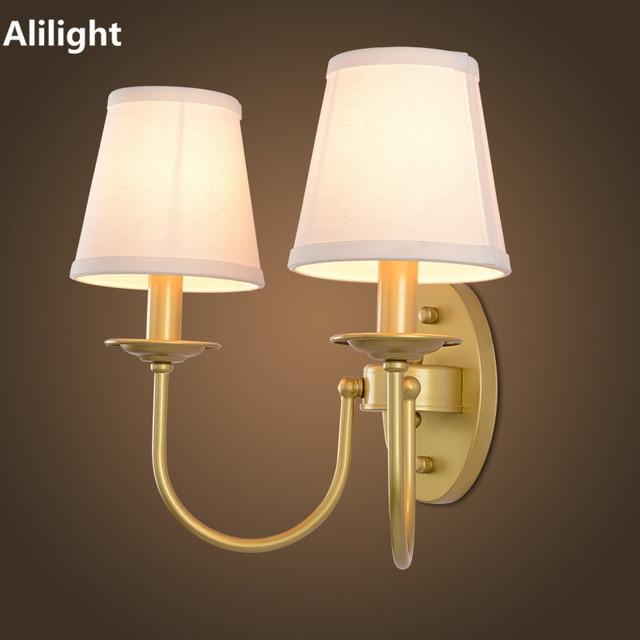 Modern Art Deco Wall Lamp Minimalist Fabric Shade Home Lighting ...