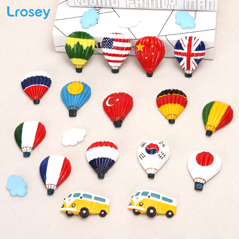 World Countries Flag hot air balloon fridge magnet souvenir travel three dimensional Home Decor DIY refrigerator magnet stickers in Fridge Magnets from Home Garden