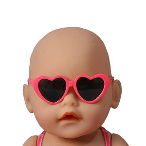 Glasses Dolls Baby Born Toys Pink Purple Mini Plastic for 40-45cm And Girl White Blue