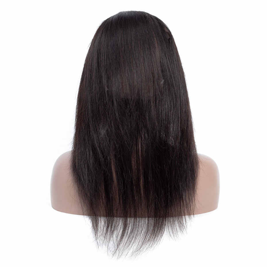 Gabrielle Indian Straight Hair 360 Lace Frontal with Baby Hair Natural Color 8-22inch Remy Human Hair Free Part Closure
