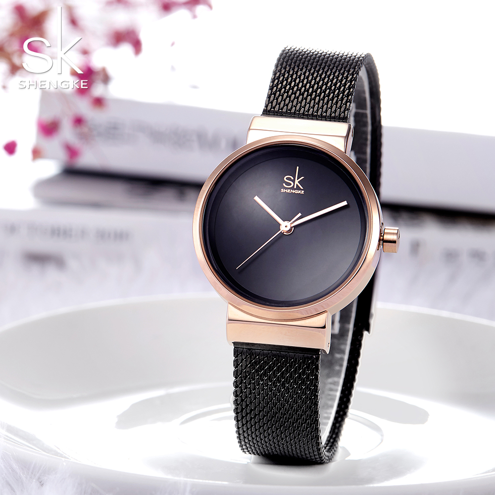 Shengke 2018 Fashion Watches Women Ladies Quartz Creative Wrist Watch Female Clock Female Hour Rosegold Ladies Girls Famous
