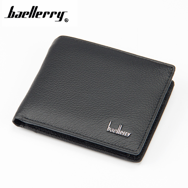 Fashion Men Casual Men's Wallet High Quality No Zippers Short Men Wallets Luxury Letter Male Purse With Card Holder 188