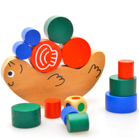Free Shipping Japan Brand High Quality Education Wooden Toy Snail Shaped Balance Toy Baby Educational Toys