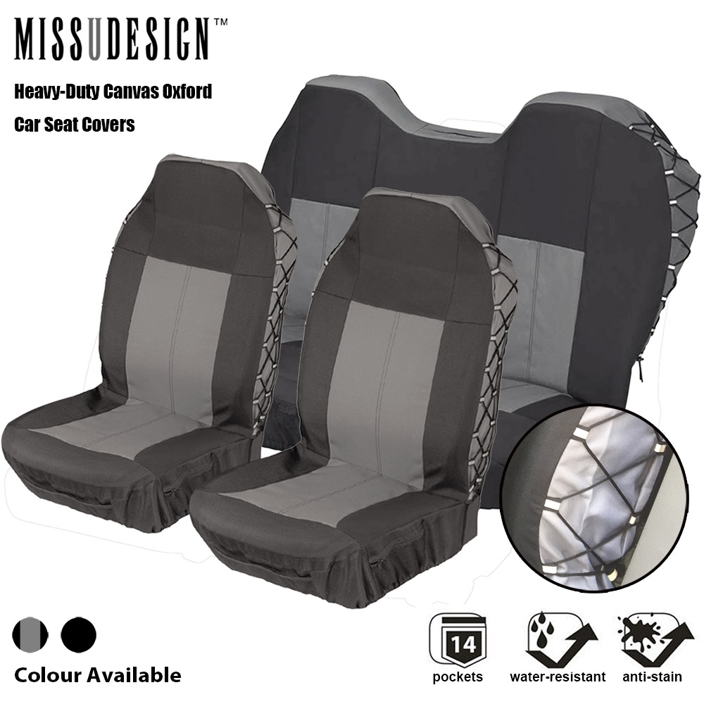 Isuzu D-Max 2012 9 Pcs Heavy Duty Grey Black Full Set Seat Covers