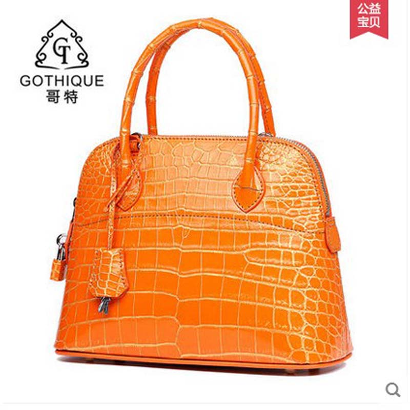 2018 gete hot freeshipping new Siamese crocodile women handbag alligator bag womenbag a shoulder bag