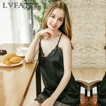 New Sexy Sleeping Skirt Ladies Summer Pure Lace Suspender Home Clothing Comfortable Soft CoolHollow lace embellish LVFAN DQ808