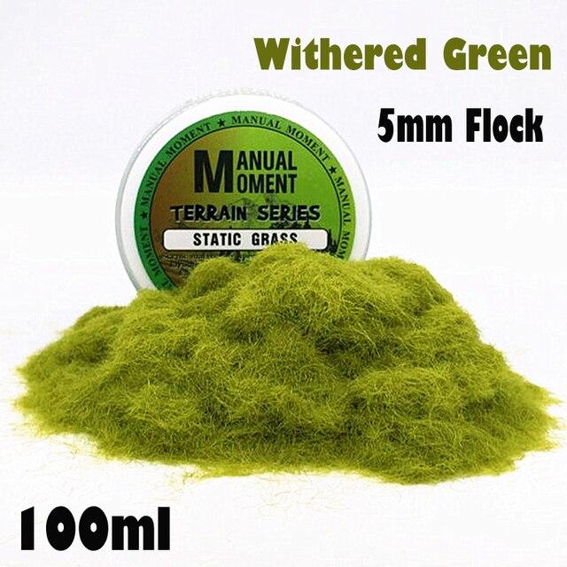 Миниатюрная сцена модель материал увядший фон зеленый газон из флока газон нейлоновый порошок травы статического трава 5 мм моделирования ...
