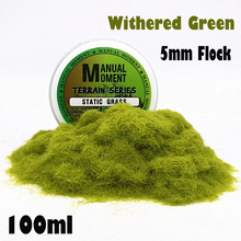 Miniature Scene Model Materia Withered Green Turf Flock Lawn Nylon Grass Powder STATIC GRASS 5MM Modeling Hobby Craft Accessory cheap Minor use under the supervision of guardian 14 years old Unisex Manual Moment Plastic Model With Craft Plate
