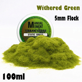 Miniature Scene Model Materia Withered Green Turf Flock Lawn Nylon Grass Powder STATIC GRASS 5MM Modeling Hobby Craft Accessory 5mm Flock Static Grass Fiber HOBBY ACCESORIES Model Number: 153