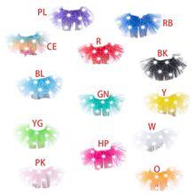 Светодиодный светильник для девочек, 13 цветов, мини-юбка-пачка в стиле El Wire многослойная юбка-американка из тюля для балета, танцев, яркого цвета