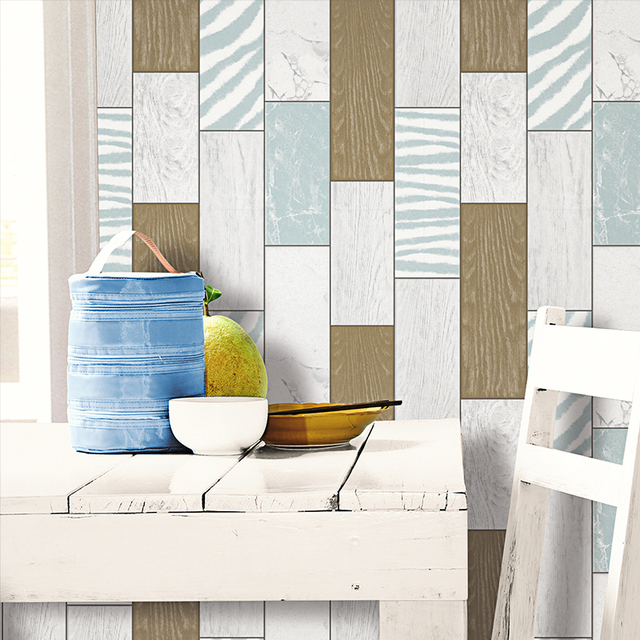 3d modern black and white board wallpaper brown wooden for White wood wallpaper bedroom