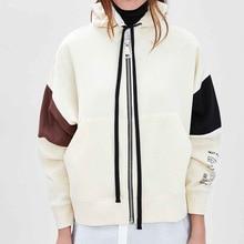 804373a42f WISHBOP MAXI ZIP UP HOODIE Sweatshirt adjustable hood long sleeves ...