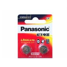 2 шт PANASONIC LR44 A76 AG13 0% Hg SR1154 357 LR 44 1,5 V батареи для калькулятора 0% Hg