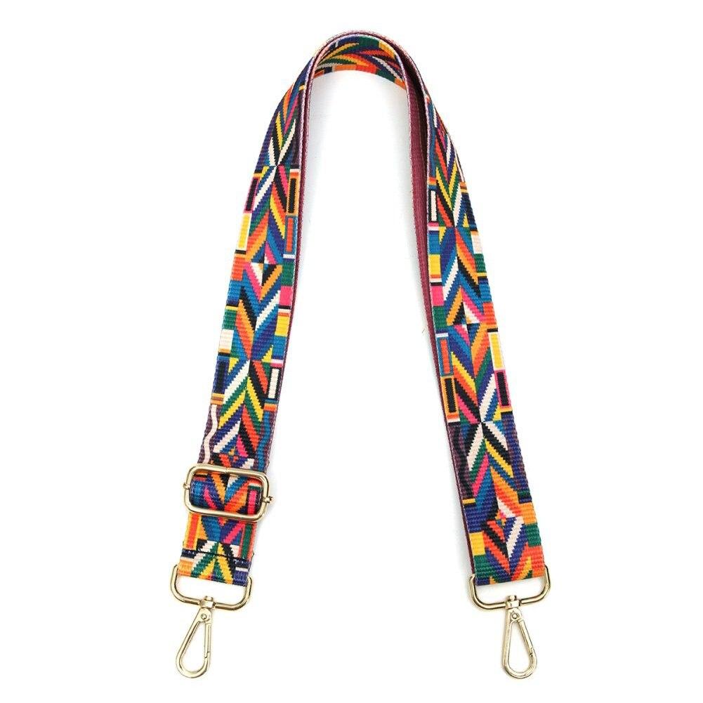 Ethnic Style Belts Shoulder Bag Strap RFID Blocking Wide Parts Crossbody Handbag Fabala Not Adjustable Ribbon Bag Accessory