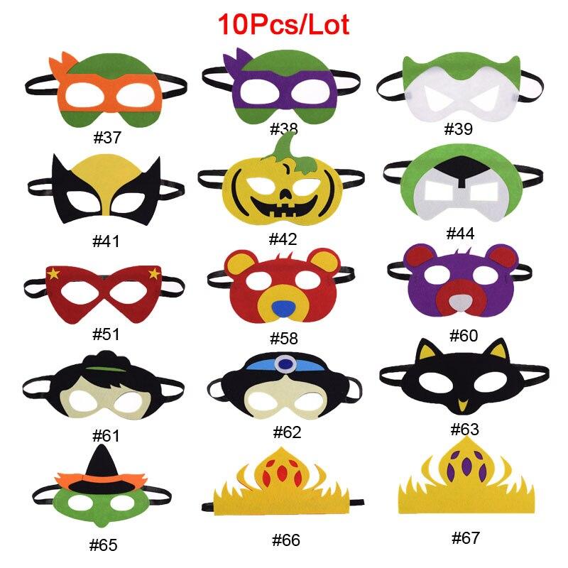 10pc/lot Superhero Mask Dr Doom Batman Star Wars Darth Vader Cosplay Mask Kids Birthday Party DIY Masquerade Costumes Masks Xmas