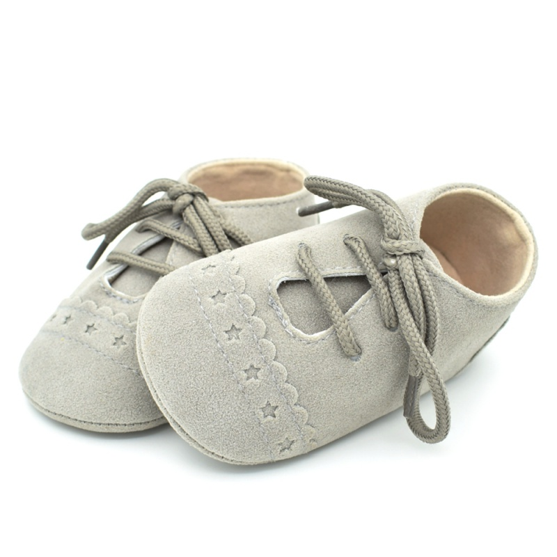 Infant Baby Girls Boys Spring Lace Up Soft Leather Shoes Toddler Sneaker Non-slip Shoes Casual Prewalker Baby Shoes 27