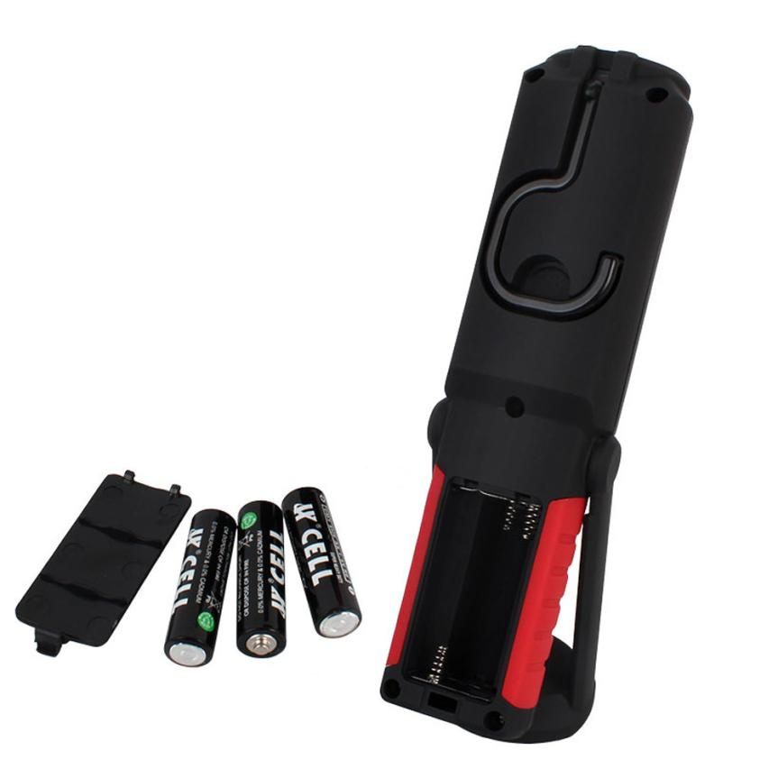 LED new portable flashlight magnetic base flashlight outdoor rotation can be linked to a strong light LED lights P35