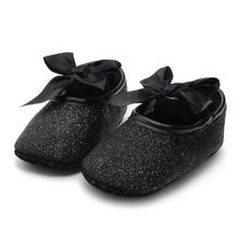 LONSANT Baby Shoes pierwszy Walker Glitter Sneaker antypoślizgowa Miękka podeszwa Toddler zima dzieci buty Dropshipping hurtownia tanie tanio Unisex Skórzane Stałe Masz Sznurowane Węzeł motylkowy Wszystkie sezony Pasuje do rozmiaru Weź swój normalny rozmiar