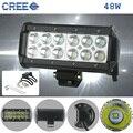 """KINDAFLY IP68 7 """"48 W Off Road LED Light Bar Spot Beam para Jeep Cabine Barco SUV Caminhão Do Carro ATV High Lumen 4416LM"""