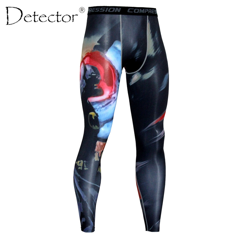 Detector Men Tights Running GYM Fitness Compression Leggings Jogging Sport Milk Fiber Pants Exercise Quick-Drying Trousers ...