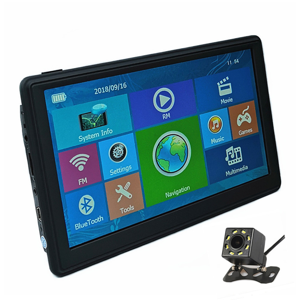 Car GPS Navigation 7 Capacitive screen 128M 8G Sat nav free maps Optional Bluetooth AV IN