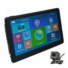 """Автомобильный gps-навигатор """" емкостный экран 128 M/8G Sat nav бесплатные карты, дополнительные Bluetooth AV-IN и камера заднего вида"""
