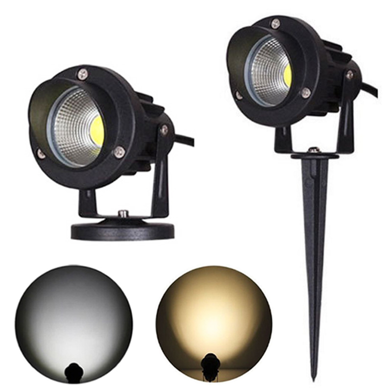 LED COB Garden Lawn Lamp Light AC85-265V DC12V Outdoor LED Spike Light 3W 5W 10W Path Landscape Waterproof IP65 Yard Step Bulbs